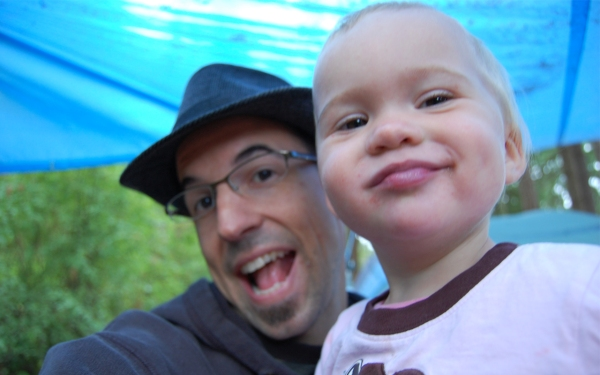 Talitha & Me! Camping 2008.