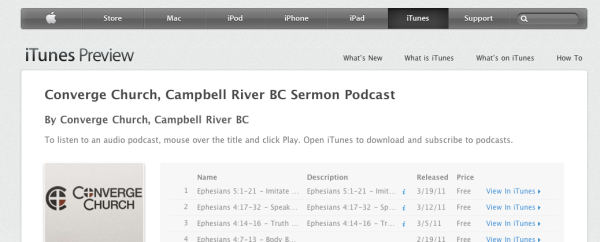 Converge Church iTunes podcast